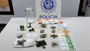 Desmantelado un foco de venta de droga en un piso en Segovia donde se encontró hachís, marihuana y éxtasis