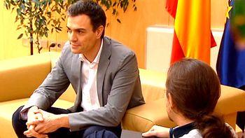 Pedro S�nchez pide a Iglesias que reconsidere su postura 'excluyente'