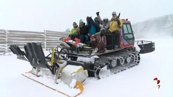 El Punto de nieve de Santa Inés recibe sus primeros esquiadores