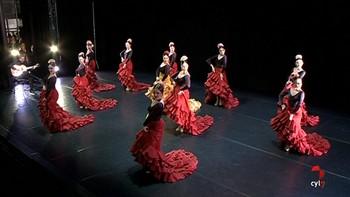 Trescientos jóvenes de la India asisten a una exhibición de la Escuela Profesional de Danza