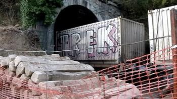 Interrumpido el tráfico en la línea León-Gijón por el descarrilamiento de un tren de mercancías