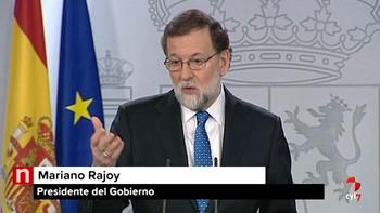 Rajoy avisa de que el nuevo Gobierno catalán estará sometido a la ley y rechaza el encuentro con Puigdemont