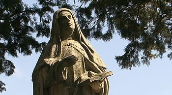 'De la cuna al sepulcro', esencia del esp�ritu de Santa Teresa y de los paisajes de La Mora�a