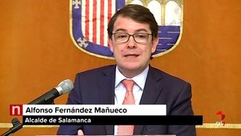Mañueco pide 'tranquilidad' y 'esperar' una resolución judicial como la de Sijena para la devolución de papeles al Archivo de Salamanca