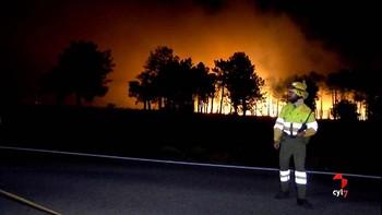 Un año del gran incendio de Navalilla en Segovia