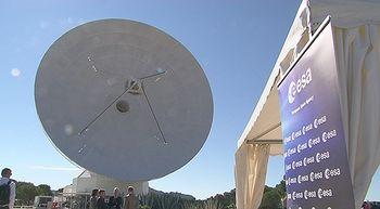 La antena de la estación de seguimiento espacial de Cebreros, Ávila, cumple diez años