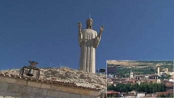 Palencia desde lo alto del cerro del Cristo del Otero
