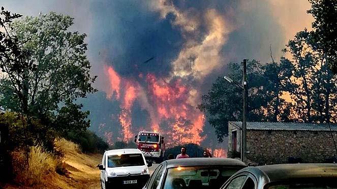Incendio en Aldeadávila, Salamanca - rtvcyl.es