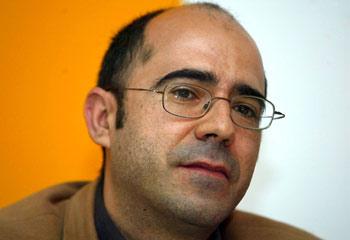 El escritor Óscar Esquivias en la 43 Feria del Libro de Valladolid. - rtvcyl.es