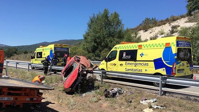 Accidente de tráfico en la autovía A-52, en Cobreros, Zamora - rtvcyl.es