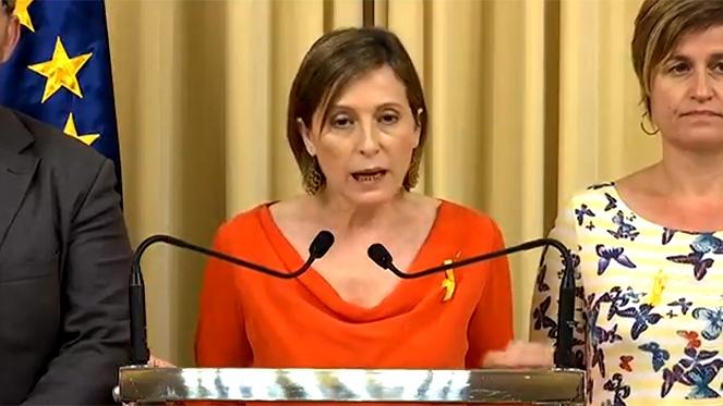 Forcadell: 'Rajoy ha traspasado todos los límites y ha dado un golpe a la democracia'
