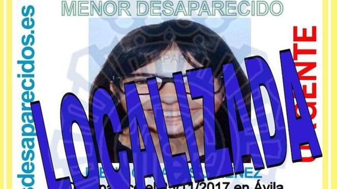 Localizan en buen estado a la menor desaparecida en Ávila hace dos meses