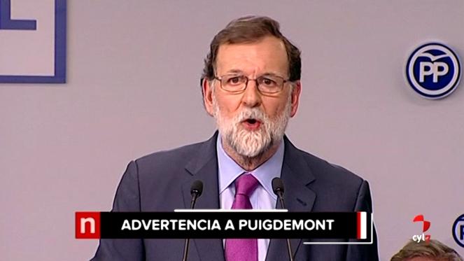 Rajoy advierte que Puigdemont no puede ser presidente desde Bruselas