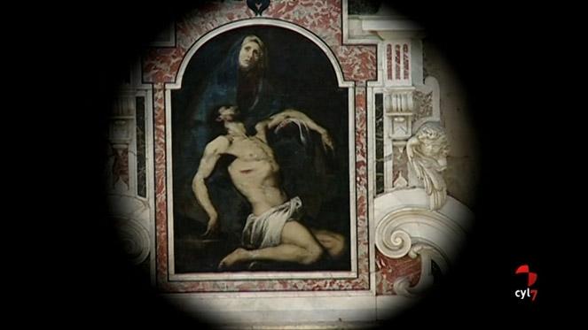 Pinturas a vista de telescopio en la iglesia de la Purísima de Salamanca